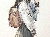 Drawing Anime Using Watercolor Watercolor Watercolour Anime Draw Anime Art Anime Watercolor