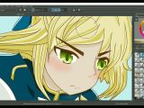 Drawing Anime with Krita Fate Stay Night Unlimited Blade Works Saber Enhancement On Krita