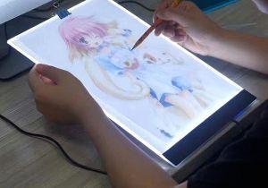 Drawing Board Cartoons Homfun A4 Led Artist Thin Art Stencil Drawing Board Light Box