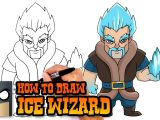 Drawing Cartoon 2 Full Pro How to Draw Ice Wizard Clash Royale Youtube
