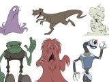 Drawing Cartoon Exercises Animation Foundations Drawing Cartoon Characters