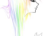 Drawing Cartoon Hair In Illustrator Sketch Rainbow Emo by Ai Lilith Deviantart Com On Deviantart