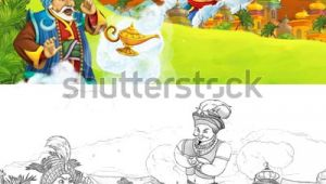 Drawing Cartoon Wizard Cartoon Scene Happy King Od Prince Stock Illustration Royalty Free