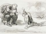 Drawing Cartoons Career Maybe after the War A Medal and Maybe A Job Antiwar Cartoon by
