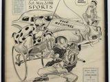 Drawing Cartoons for Newspapers Willard Mullin original Sports Drawing On Sports Cartoon