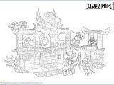 Drawing Cartoons House Ausmalbild Ninjago