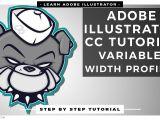 Drawing Cartoons In Illustrator Tutorial Adobe Illustrator Cc Tutorial Using Variable Width Profiles