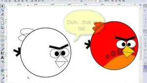 Drawing Cartoons In Inkscape Inkscape Tutorial Draw Red Angry Birds Cartoon by Vscorpianc