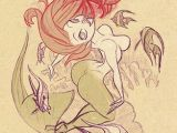 Drawing Cartoons Mermaid Bill Presing Knows His Trade and Certainly How to Draw Bottocks