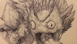 Drawing Cartoons Reddit Pukei Pukei Sketch by Jbob1390 On Reddit Monster Hunter