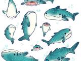 Drawing Cartoons Shark Whale Sharks by Dakshinadeer Redbubble Art Design Shark