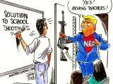 Drawing Cartoons Teacher Quick Draws Cartoonists Shoot Down Trump S Idea Of Arming Teachers