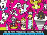 Drawing Cartoons Using Numbers Bol Com How to Draw Princesses Unicorns Dragons Step by Step