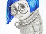 Drawing Cartoons with Colored Pencils Sadness From Inside Out Movie Color Drawing Diy Drawings