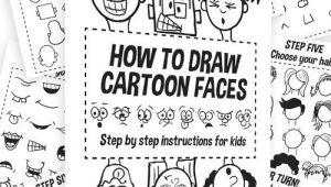 Drawing Cartoons with Shapes How to Draw Cartoon Characters Kids Crafts Drawings Cartoon