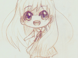 Drawing Chibi Eyes A Anime Art A Chibi Big Eyes Smile Drawing Pencil