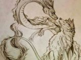 Drawing Chinese Dragons Tattoo Idea Of Wolf and Dragon Chinese Dragon together Design Ink