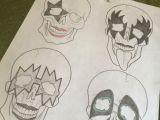 Drawing Cool Skulls Cool Drawing Just Finished Kiss Tattoo Rocknroll Skull