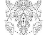 Drawing Cow Skulls Cow Skull Coloring Book Vector Illustration Anti Stress Coloring