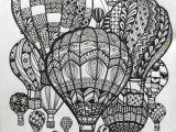 Drawing Cute Balloons Hot Air Balloons Doodle Art Doodle and Zentangle Doodle Art Art