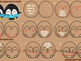 Drawing Cute Cartoon Eyes How to Draw Cute Kawaii Chibi Cartoon Penguins In A Scarf for