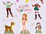 Drawing Cute Elf Illustrator Monique Dong Holly the Elf In Training Illustration
