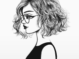 Drawing Cute Girl Pic Love How Short and Wavy Her Hair is Art Pinterest Drawings