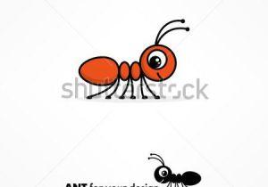 Drawing Cute Logos Cute Cartoon Ant Stock Vector Miere Cartoon Drawings Ants