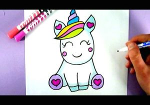 Drawing Cute Logos How to Draw A Super Cute and Easy Unicorn Youtube Draw In 2019