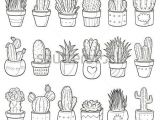 Drawing Cute Plants Drinks and Beverges Doodle Icons Hand Made Bullet Journal