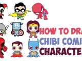 Drawing Cute Superheroes How to Draw Cute Chibi Kawaii Super Heroes From Dc Comics Marvel