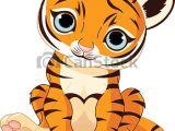 Drawing Cute Tigers Cute Tiger Cub A Cute Character Of Sitting Tiger Cub