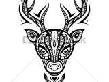 Drawing Deer Eyes Deer Head Ethnic Pattern Deer Head Tribal Pattern Ethnic Tattoo
