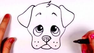 Drawing Dog Using Shapes Draw A Dog Face Doodles Drawings Puppy Drawing Easy Drawings