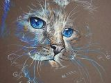 Drawing Dogs Eyes In Pastel Magic Cat Pastel Feline Cats original Cat Painting 10 Drawing
