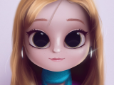 Drawing Doll Eyes Cartoon Portrait Digital Art Digital Drawing Digital Painting