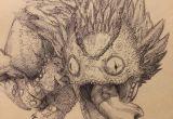 Drawing Dragons Reddit Pukei Pukei Sketch by Jbob1390 On Reddit Witch Hunter Monster
