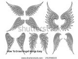 Drawing Easy Angel Wings How to Draw Angel Wings Easy Blotnik Obrazy Stockowe Obrazy Wolne Od