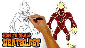 Drawing Easy Ben 10 How to Draw Heatblast Ben 10 Youtube