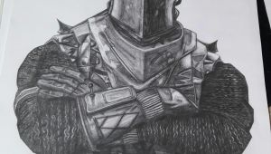 Drawing Easy Knight Black Knight fortnite Drawing 30 X 40 Cm Art In 2019 Drawings