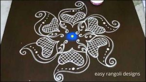 Drawing Easy Rangoli Very Easy Dots Kolam with 11 5 Dots Rangoli Simple Dots Rangoli