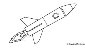 Drawing Easy Rocket How to Draw A Rocket Ship Tutorial