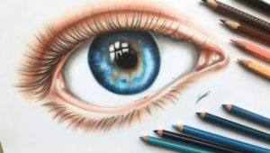 Drawing Eye Colored Pencil An Eye Colored Pencil Drawing by Polaara Colored Pencil