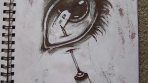 Drawing Eye Horror Needle In Eye Drawing Ballpoint Pen Horror Horror Cute Tattoo