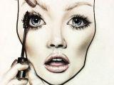 Drawing Eye Makeup On Hand Mac Face Chart Make Up It S Beautiful Mac Face Charts Makeup