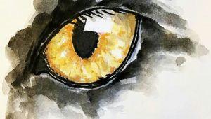 Drawing Eye Watercolor Art Inspiring Magic Dynosaur Pinterest Watercolor Art