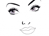 Drawing Eyes Chart Be Beautiful by Lolie 20 Face Charts Blank 20 Portraits Vierges