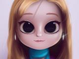 Drawing Eyes for Dolls Cartoon Portrait Digital Art Digital Drawing Digital Painting