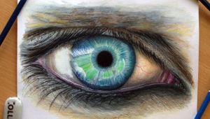 Drawing Eyes In Colour Eye Color Pencil Drawing by atomiccircus On Deviantart In Your