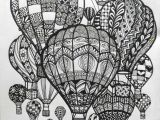 Drawing Eyes On Balloons Hot Air Balloons Doodle Art Doodle and Zentangle Doodle Art Art